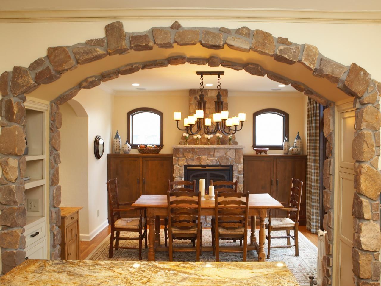 Использования натурального камня в арке