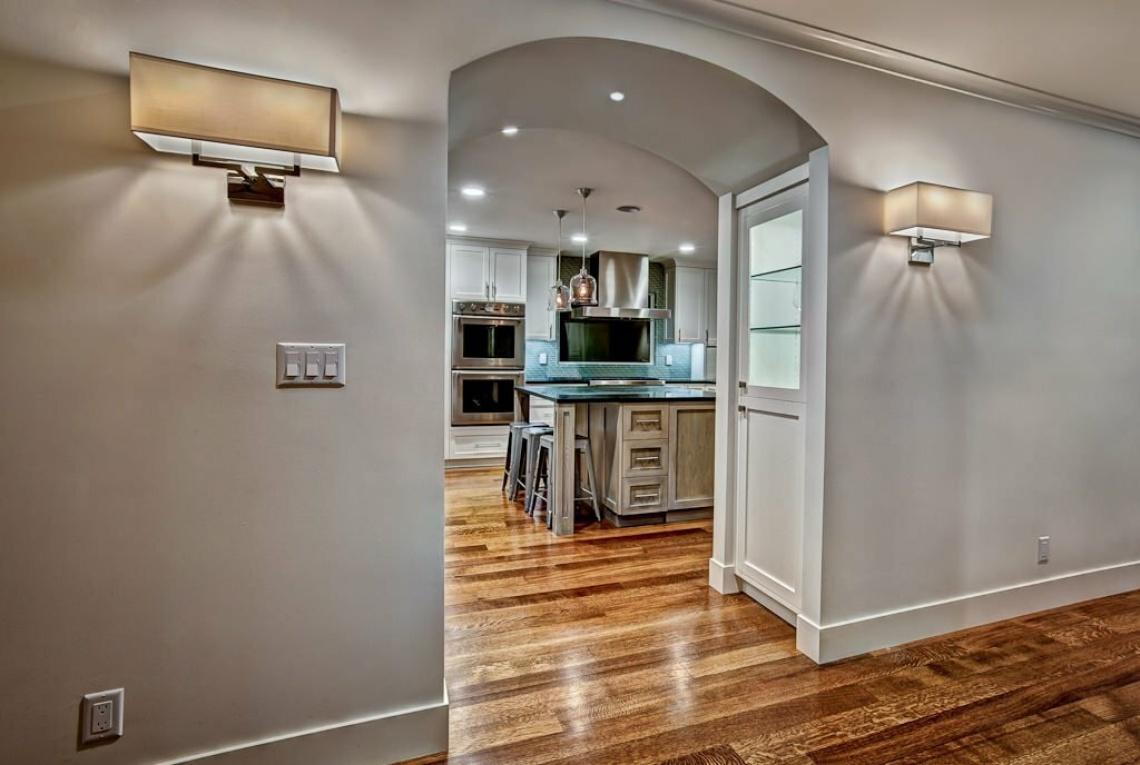 Красивая подсветка арки на кухню