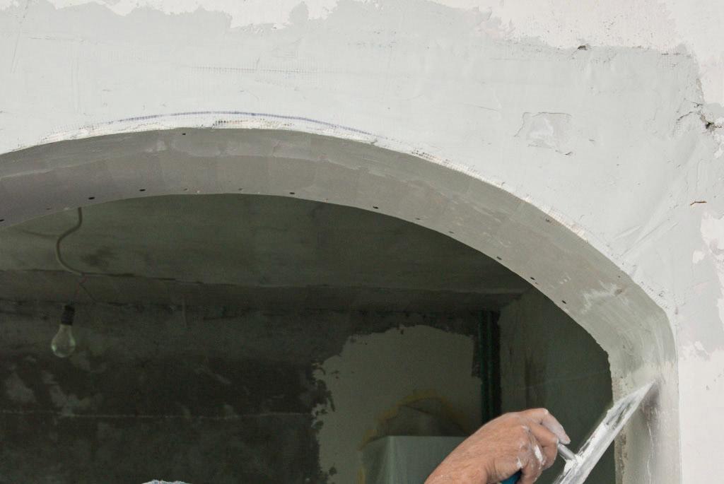 Шпатлевка арки