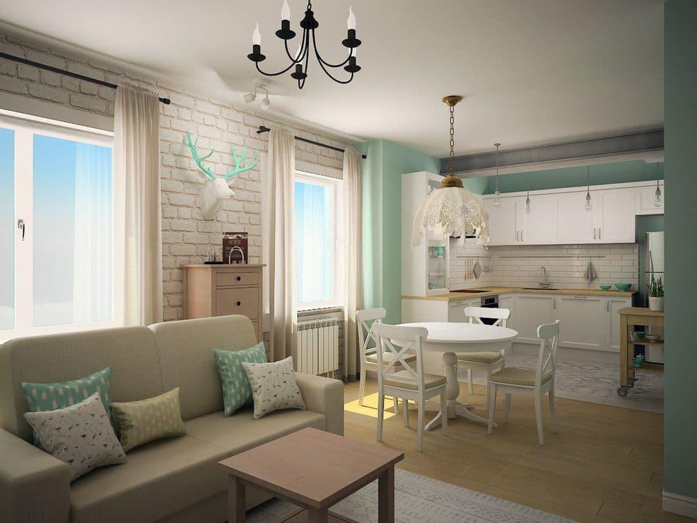 Кухня-гостиная с открытой планировкой