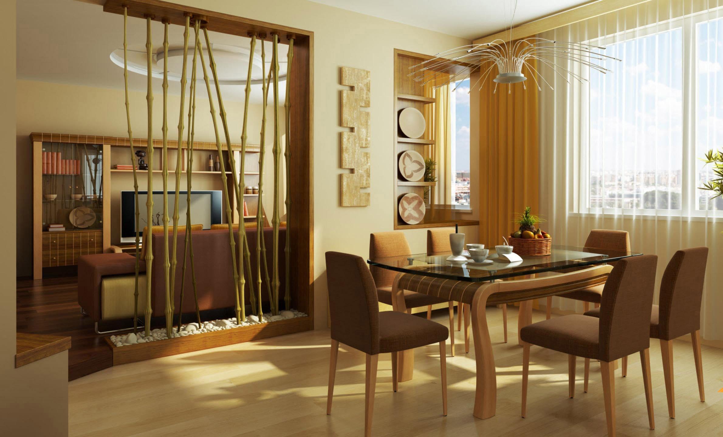 Бамбук для разделения зон