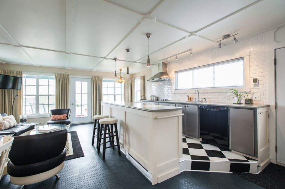 Поднятая кухонная зона