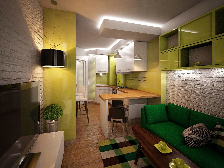 Барная стойка совмещенная со столешницей кухни