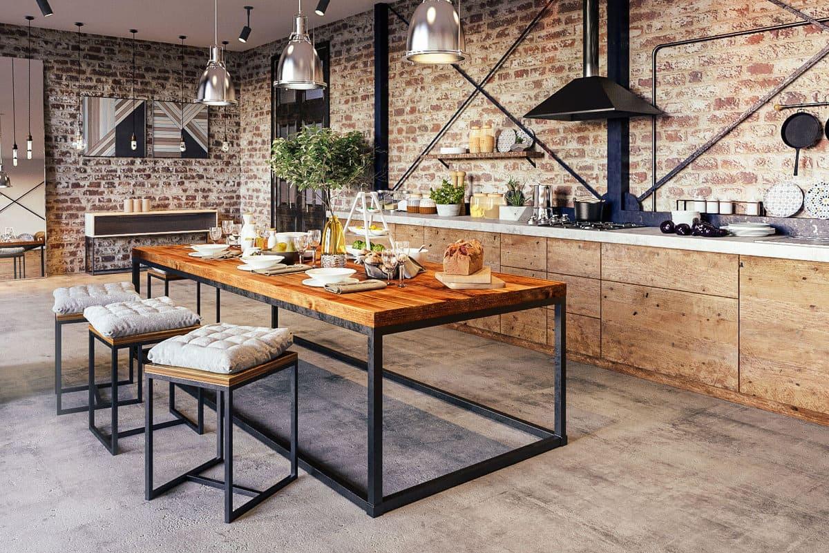 Стили кухни в интерьере: Лофт