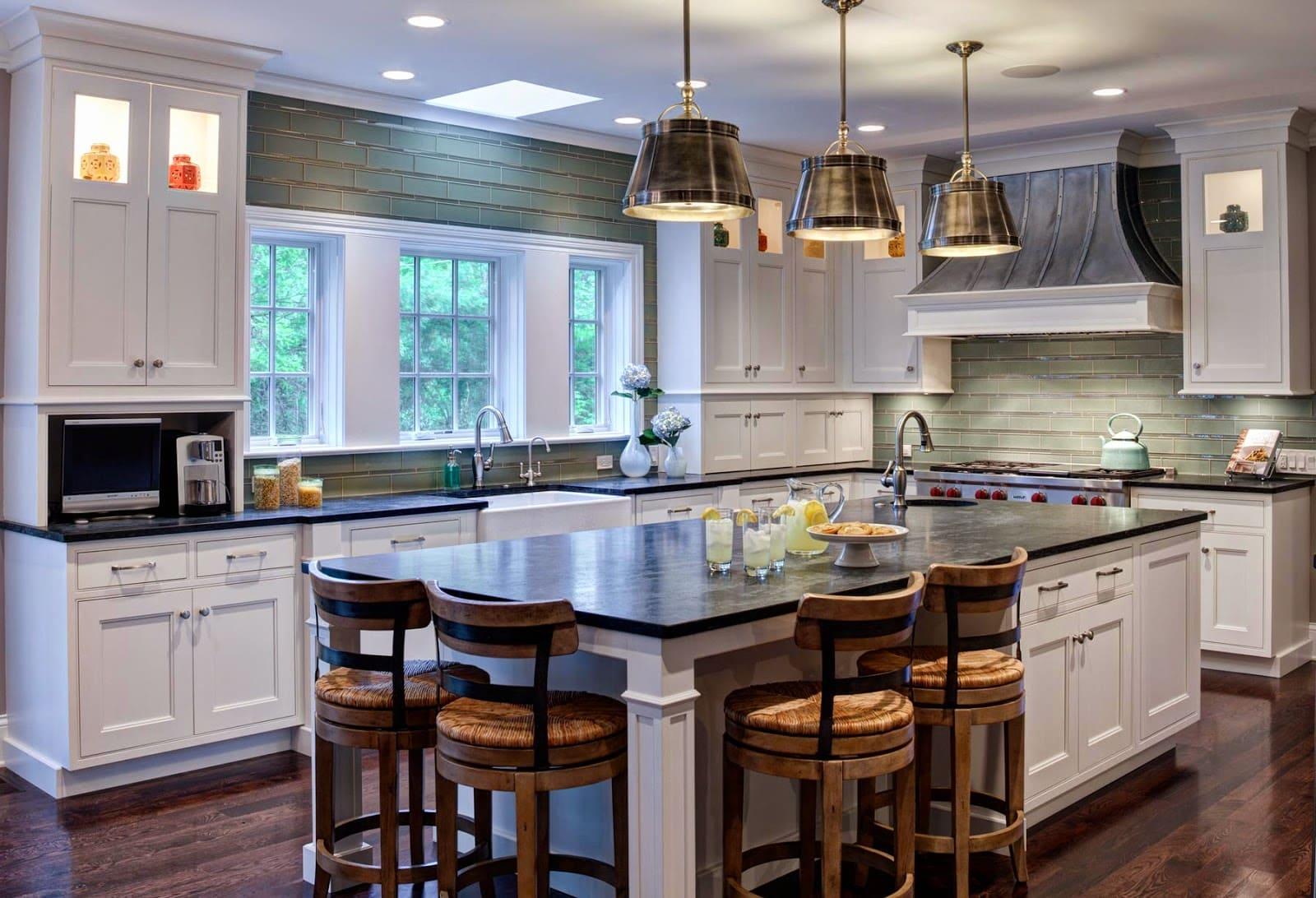 Стили кухни в интерьере: американский стиль в спокойных тонах