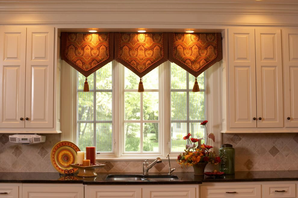 шторы для кухни в восточном стиле