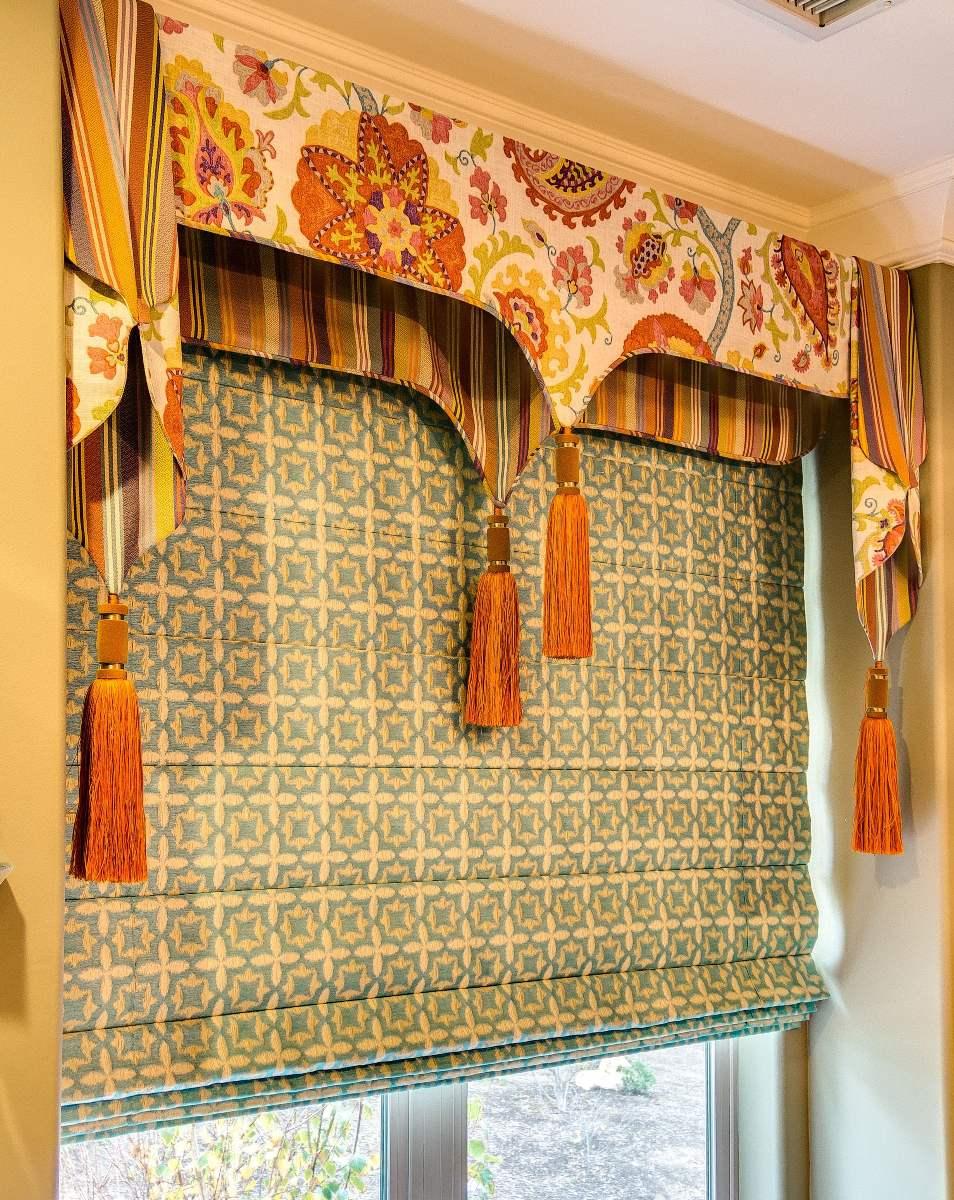 плотные восточные шторы для кухни