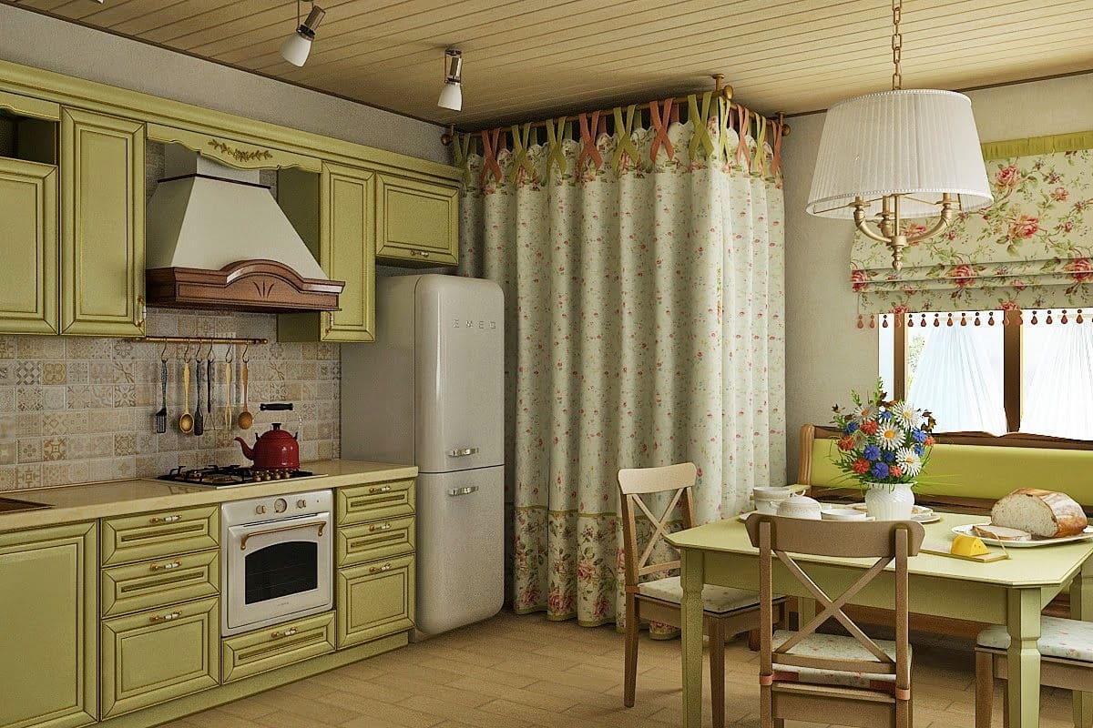 гардины для кухни в стиле прованс