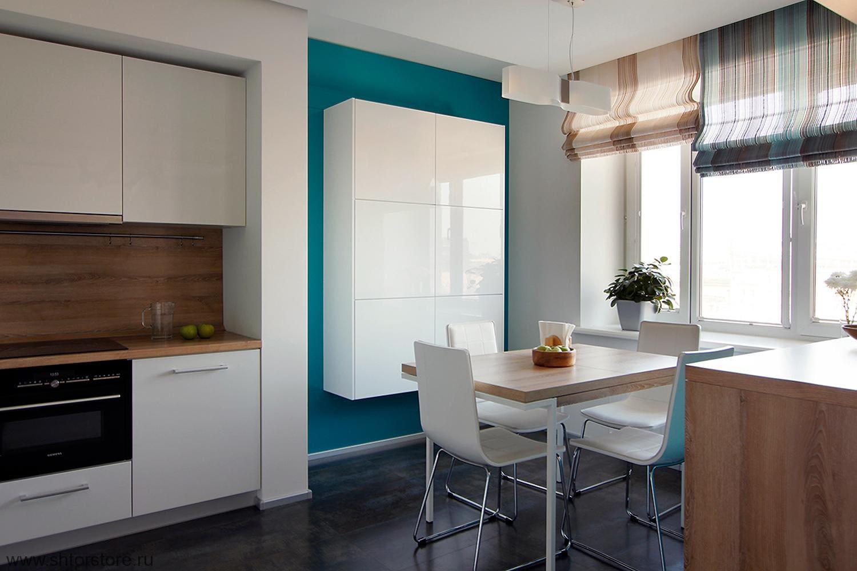 Кухонные шторы в стиле минимализм