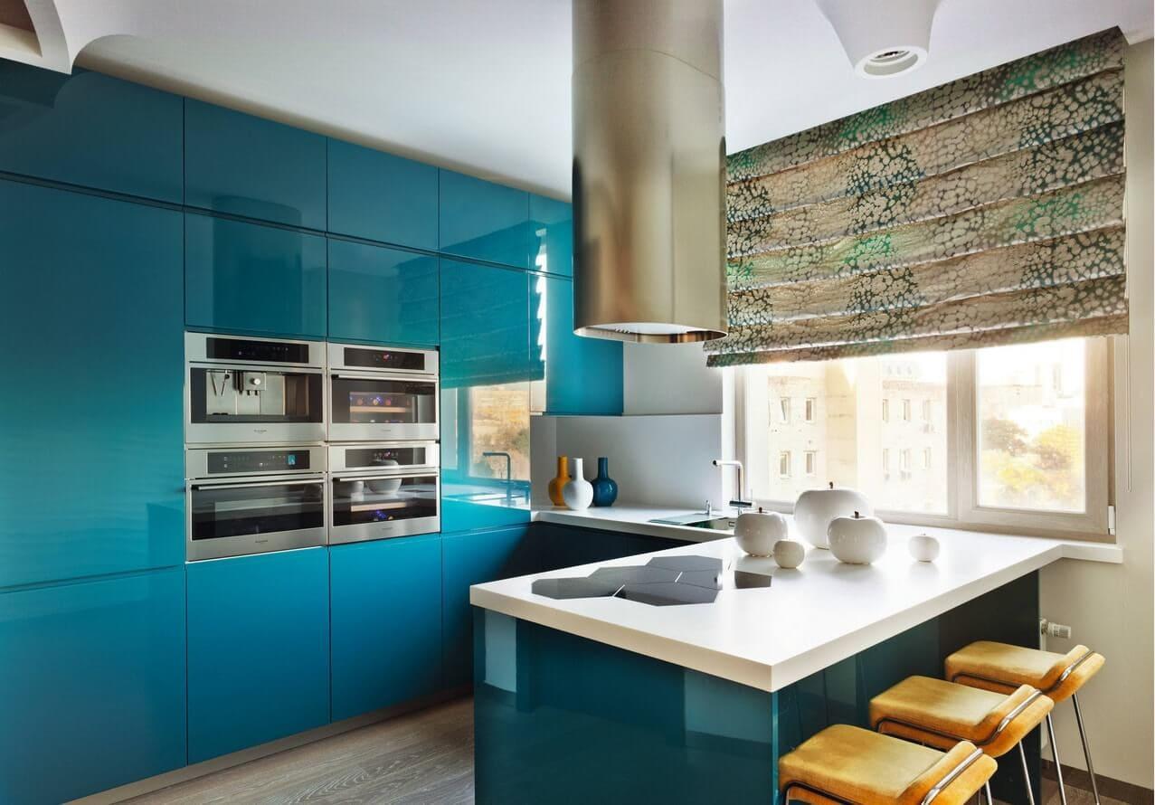 шторы для кухни в стиле хай тек