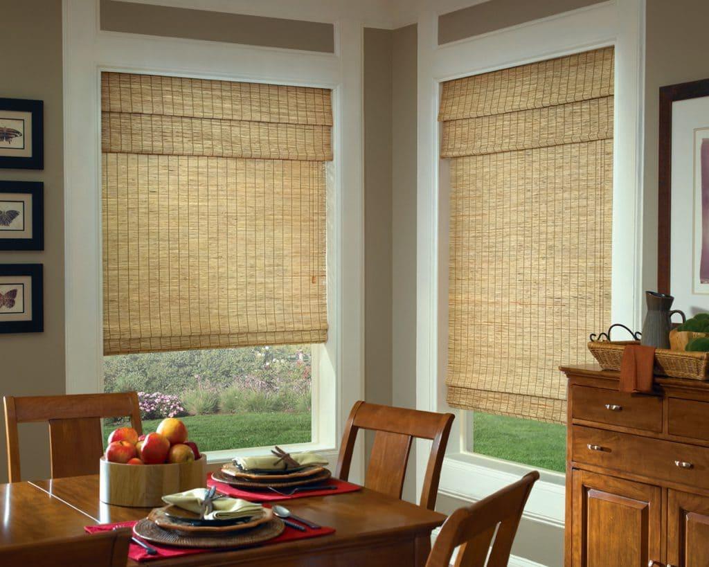 Тростниковые кухонные шторы