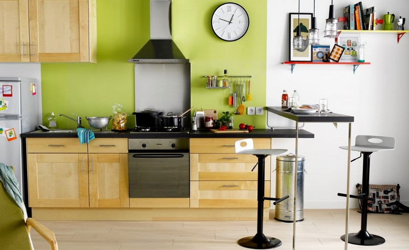 Небольшая барная стойка для кухни
