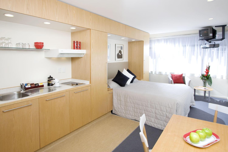 маленькая кухня-спальня