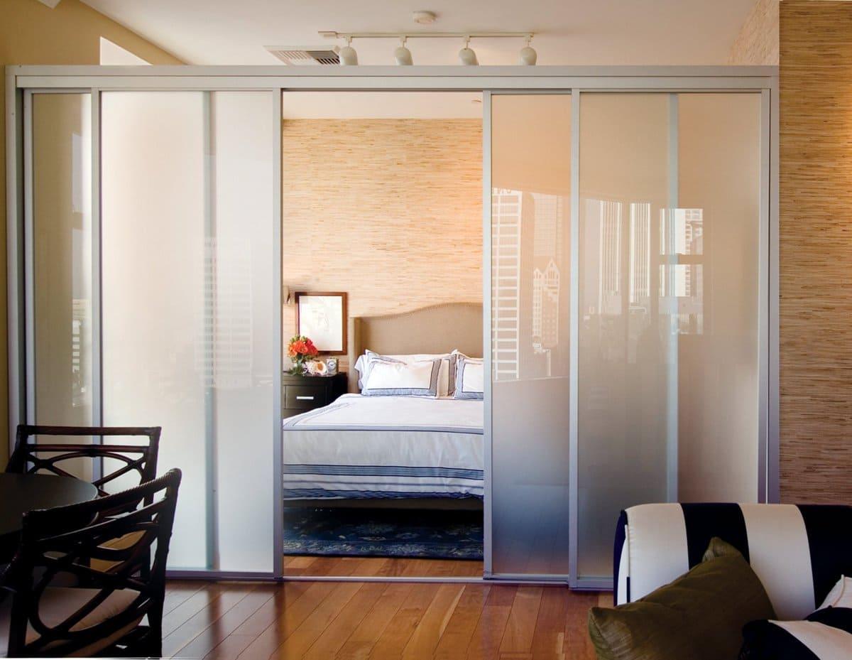 дверь-слайдер для кухни-спальни