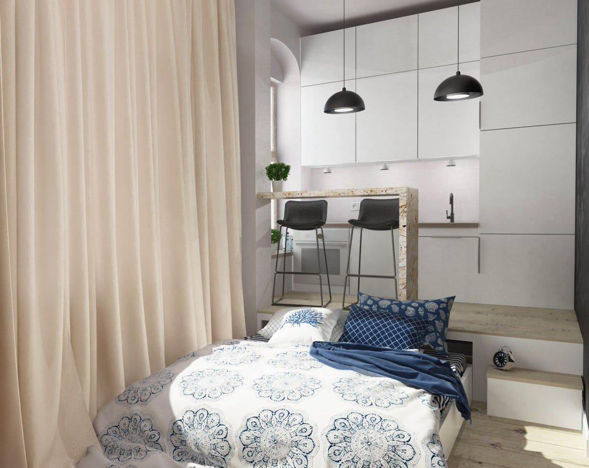 шторы для отделения кухни от спальни