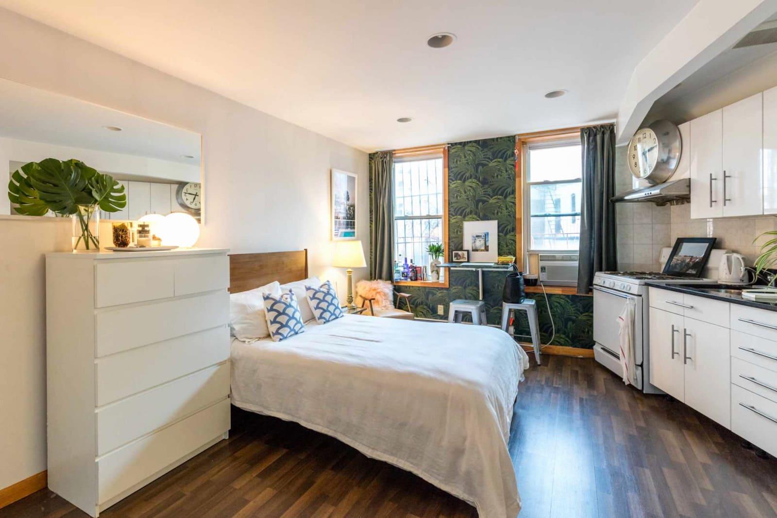 кухня спальня в едином дизайне