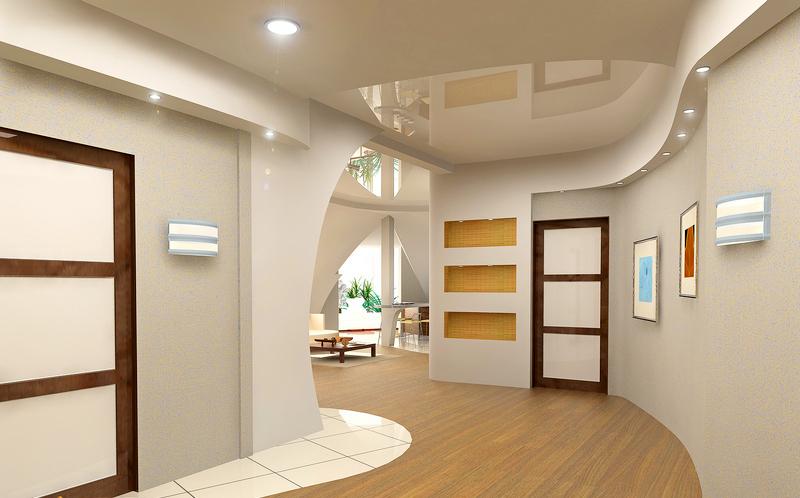 потолок в кухне прихожей