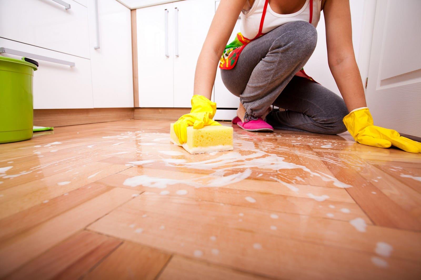 уход за полом на кухне