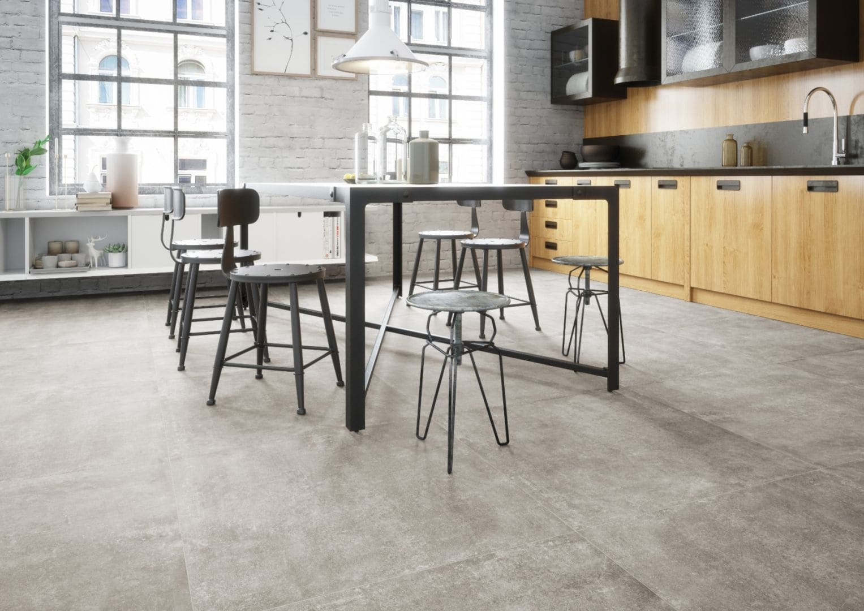 имитация бетона на кухонном полу
