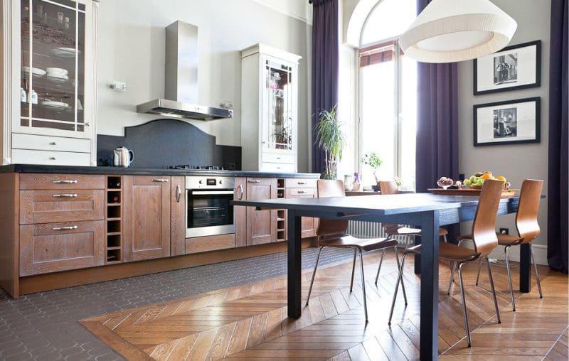 красивый кухонный пол