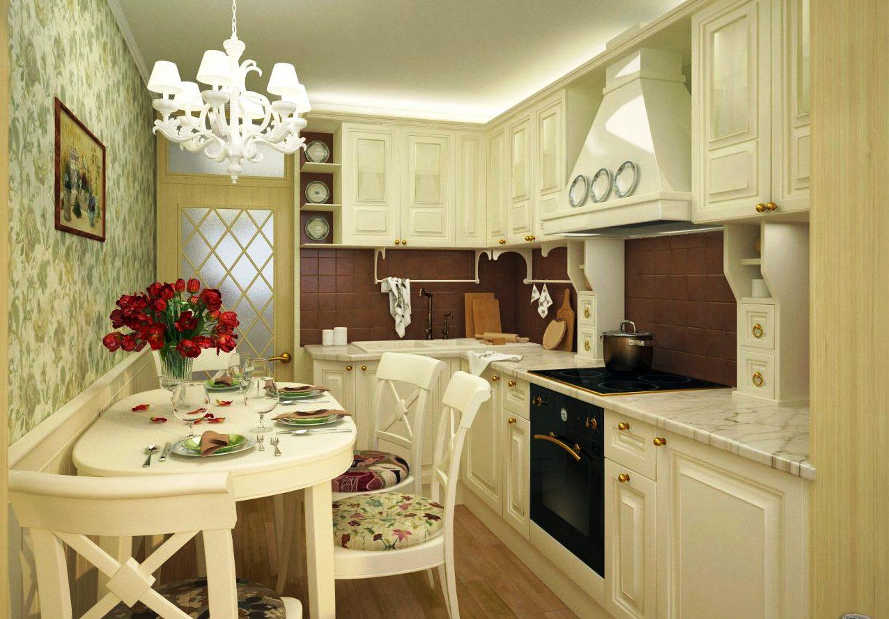 классическая кухня 12 метров