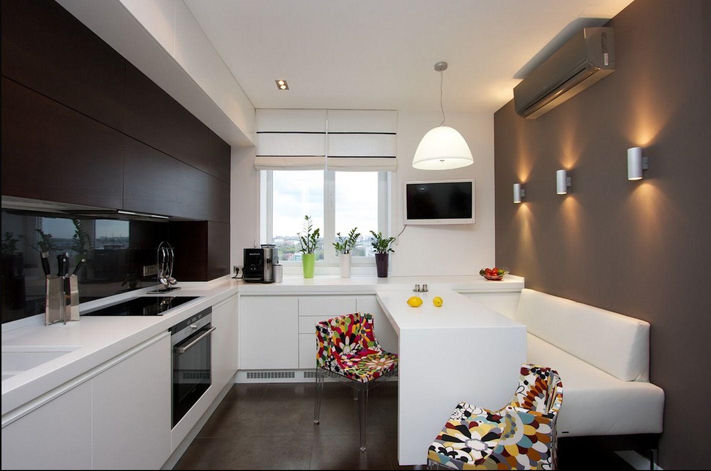 кухня 12 метров в стиле минимализм