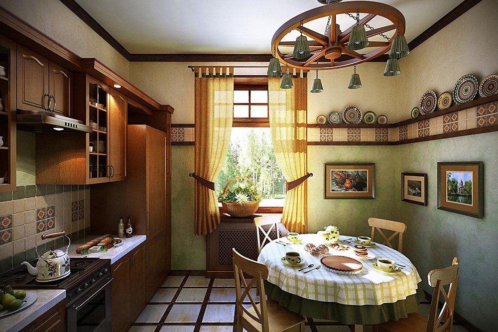 кухня 12 метров в стиле кантри