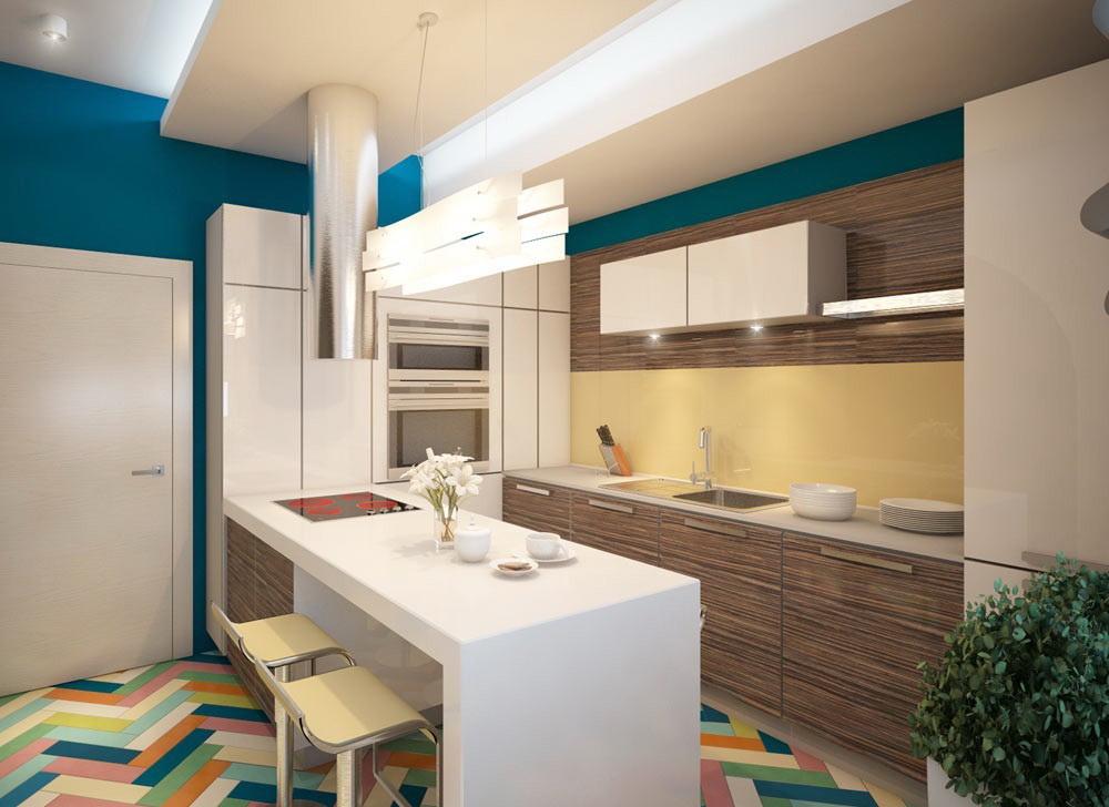 квадратная кухня 12 метров