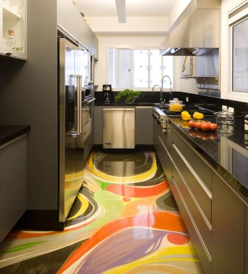 наливной пол на кухне 12 метров