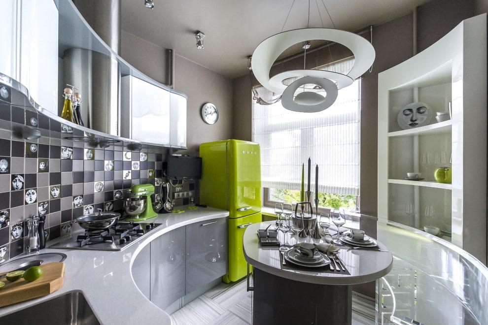 округлая кухня 12 метров
