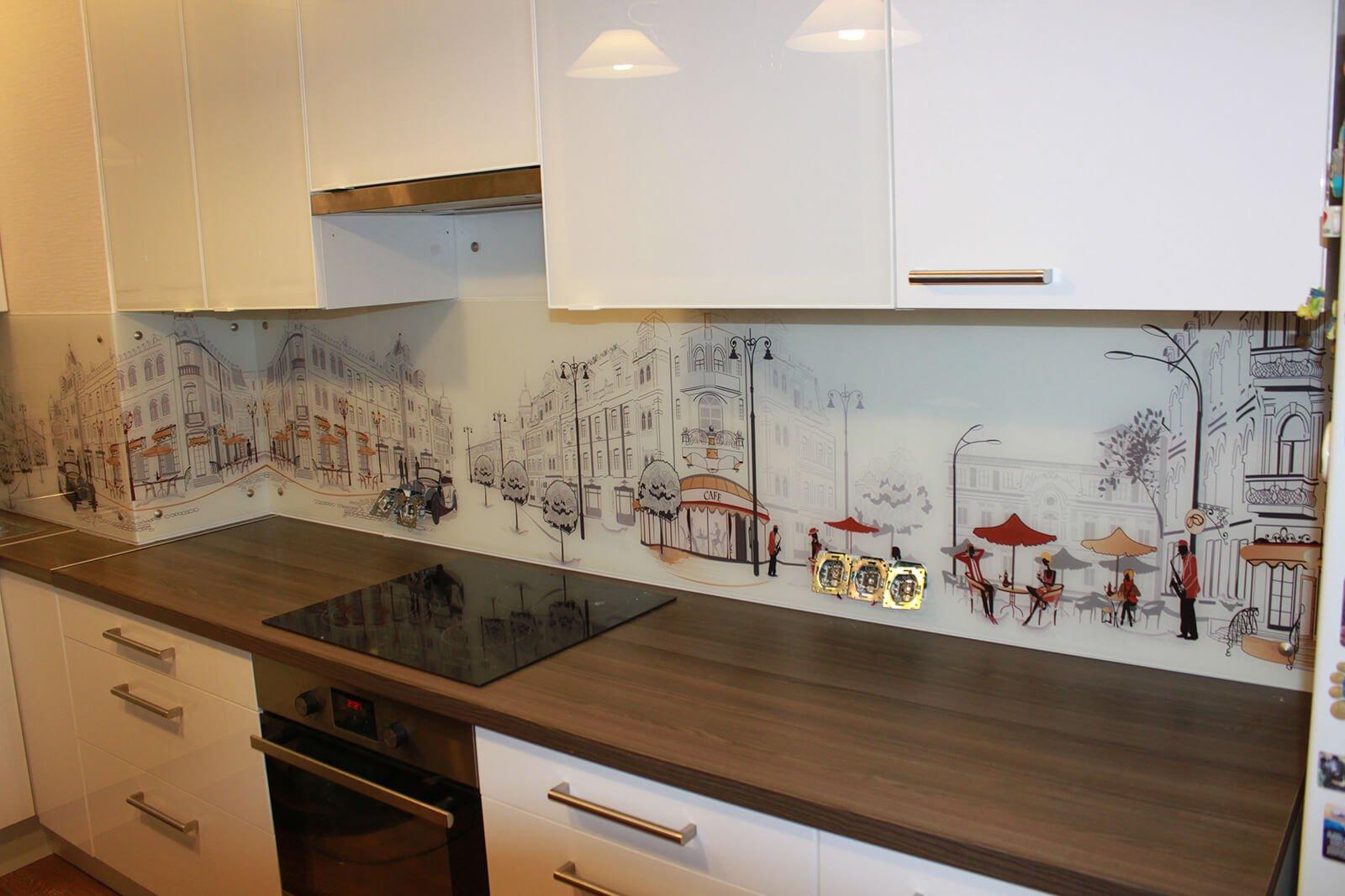 стеклянный фартук кухни 12 метров