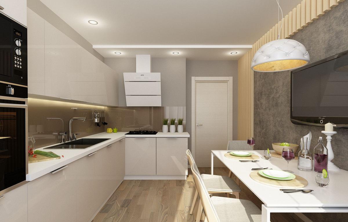 точечное освещение в кухне 12 метров