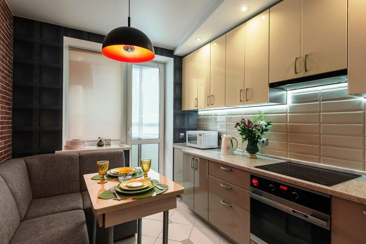 освещение в кухне 12 метров