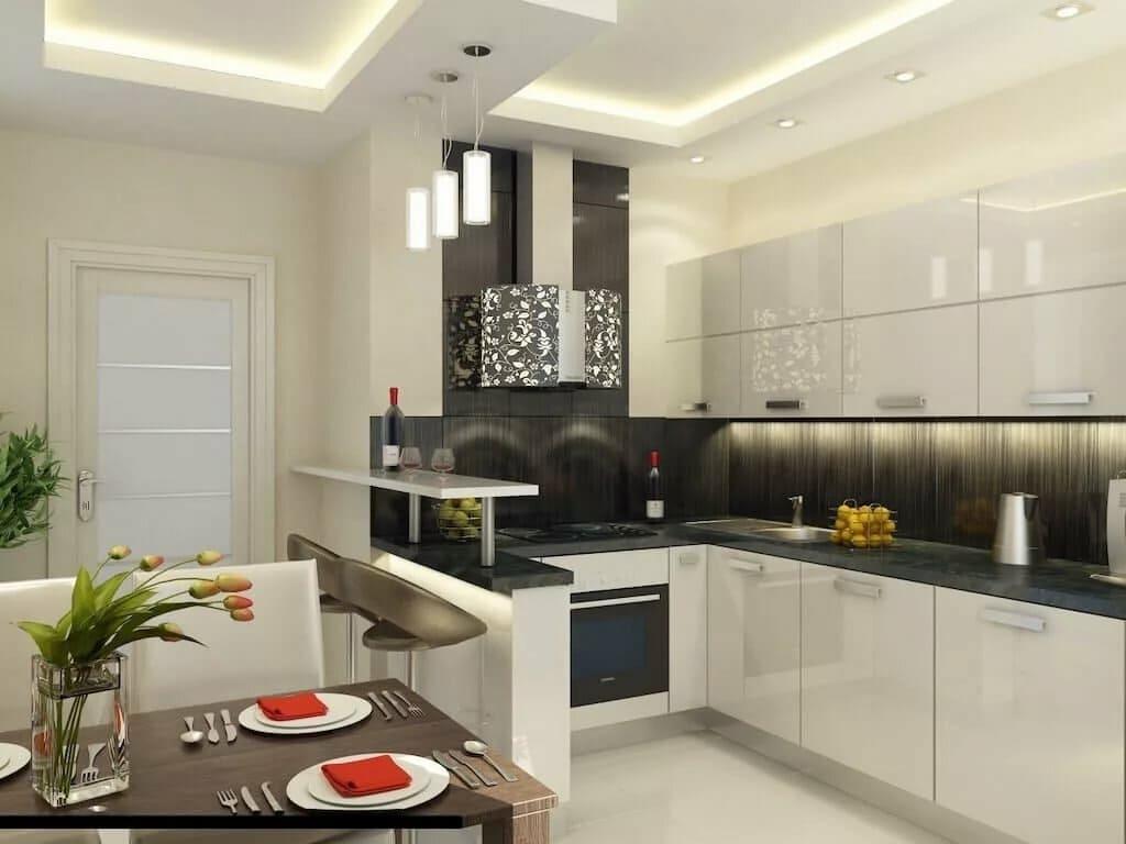 г-образная планировка кухни 12 метров