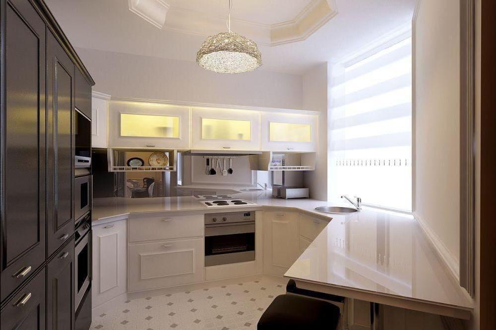 п-образная планировка кухни 12 метров