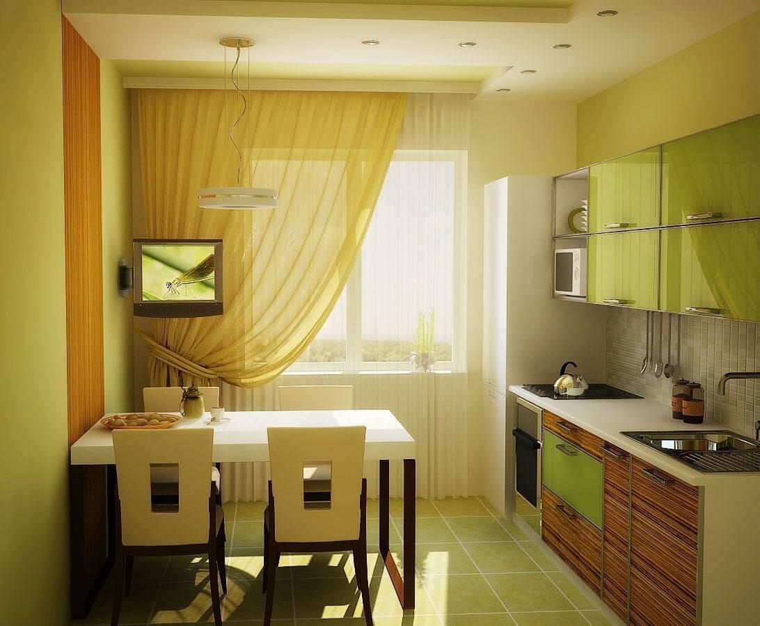 яркая кухня 12 метров