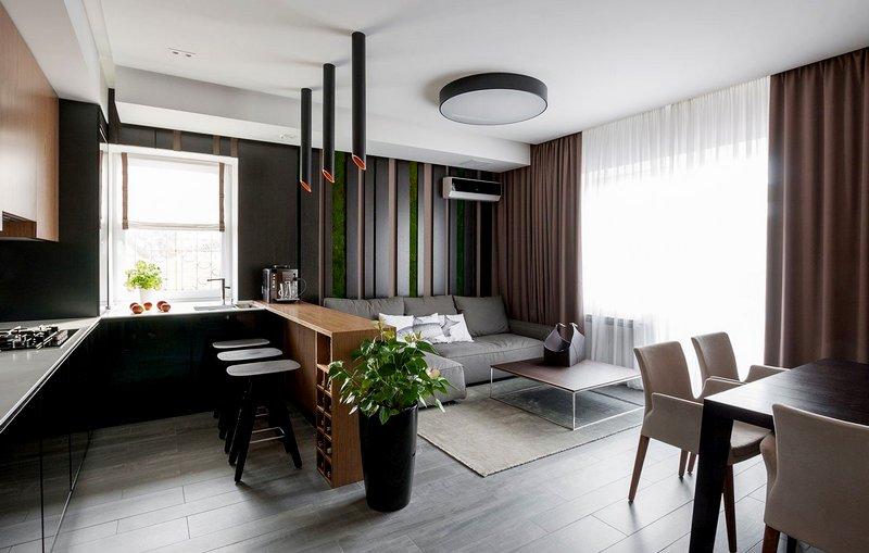 Дизайн кухни-студии фото 5