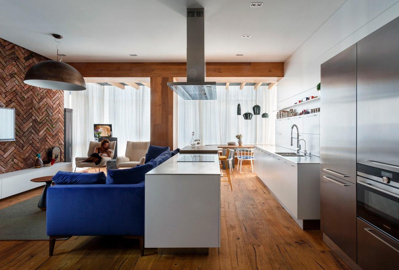 островная планировка кухни гостиной 25 м