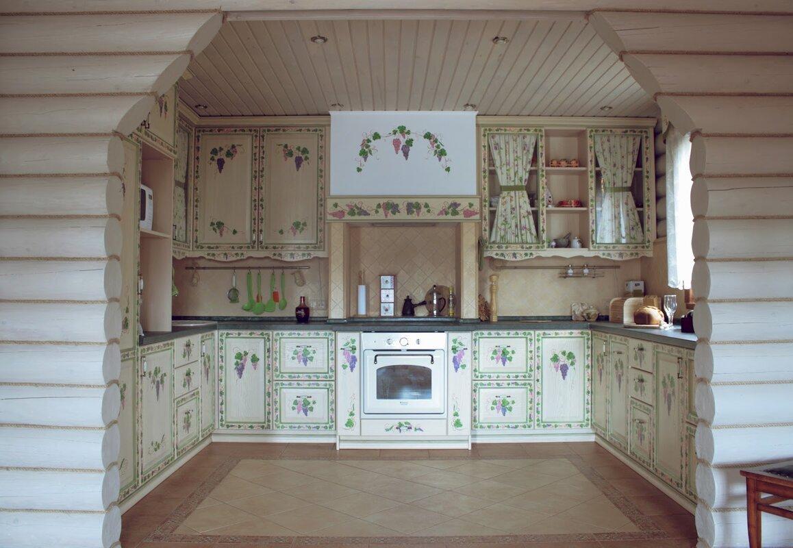 электропечь на дачной кухне