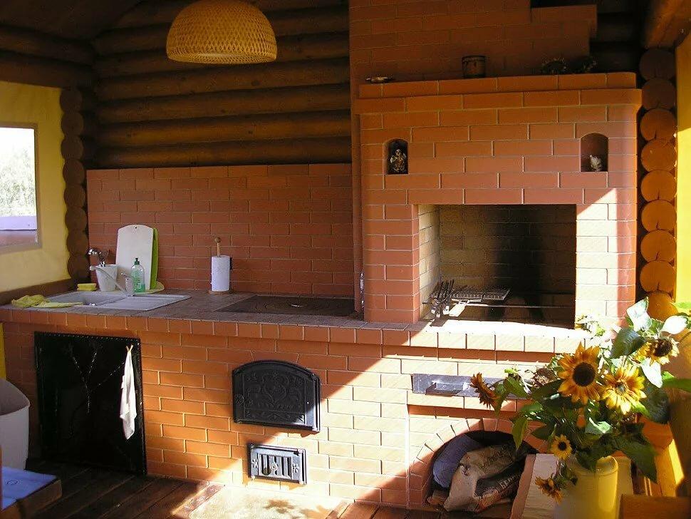кирпичная русская печь на даче
