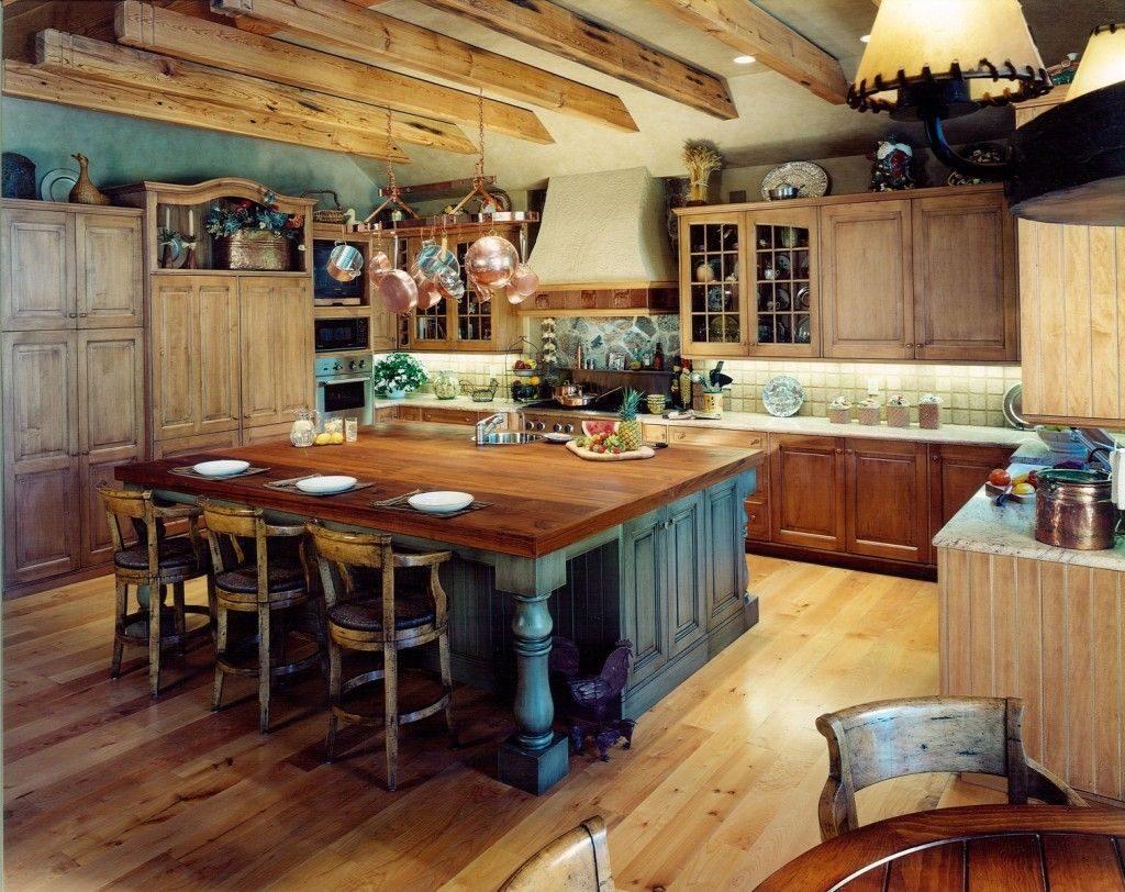кухня на даче в стиле кантри