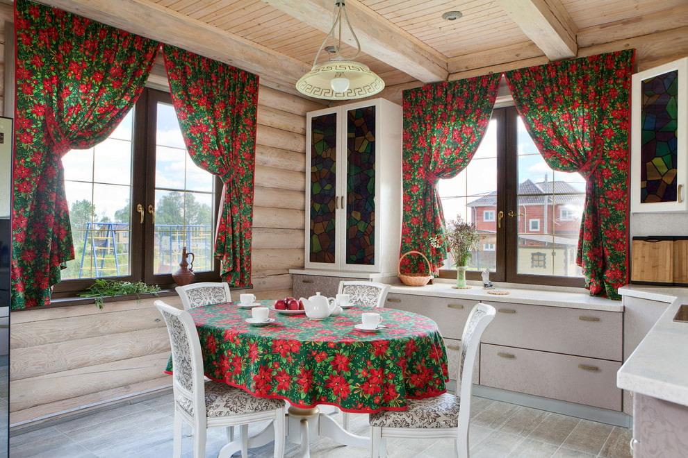 кухня на даче в русском стиле