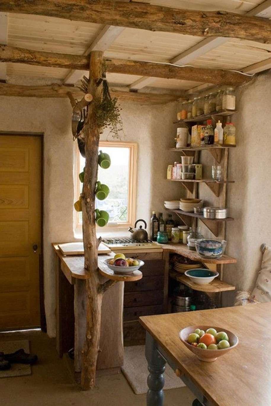 эко дизайн дачной кухни