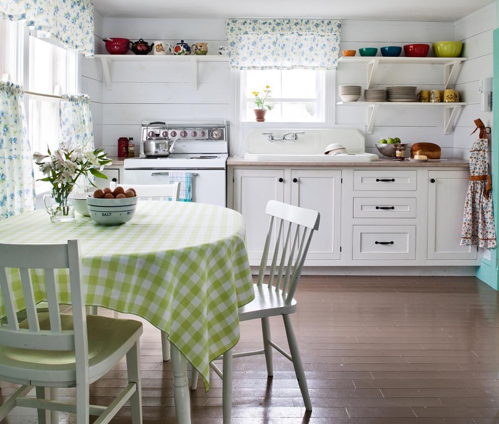 белый дизайн дачная кухня