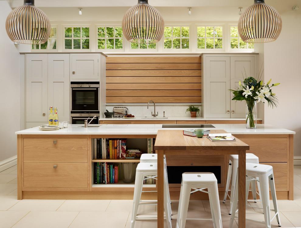 экологичный стиль кухни в деревянном доме