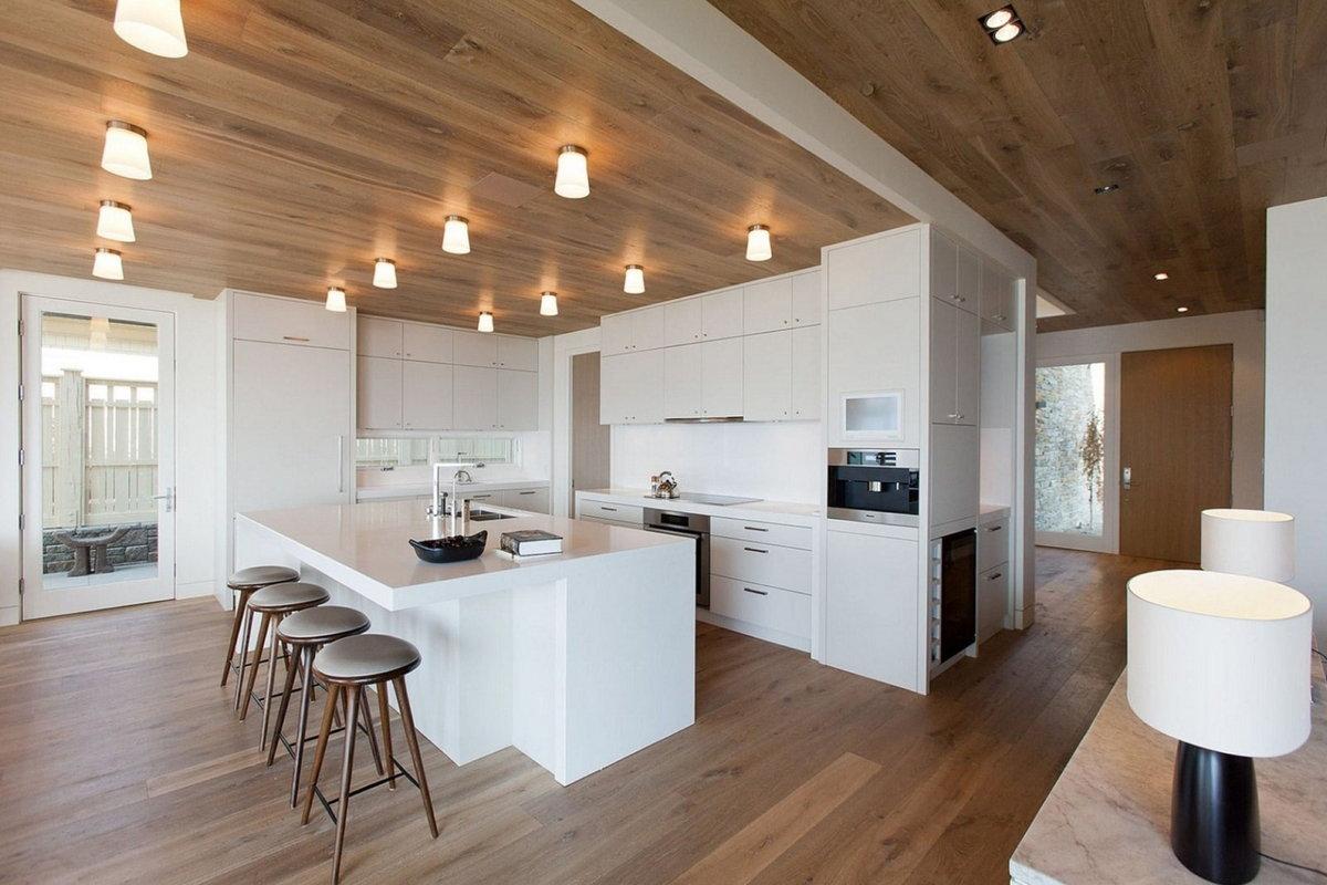 ламинат для кухни в деревянном доме
