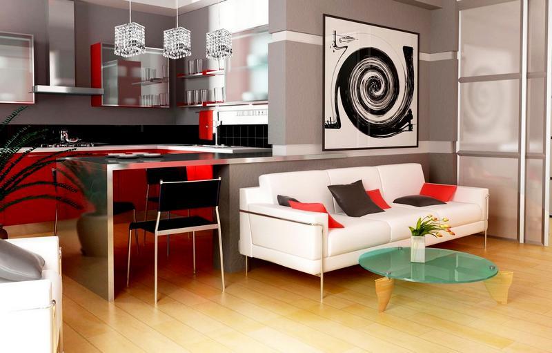 Дизайн кухни-студии фото 3
