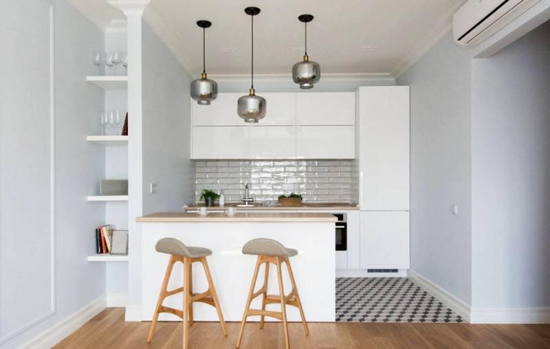 красивая кухня-ниша