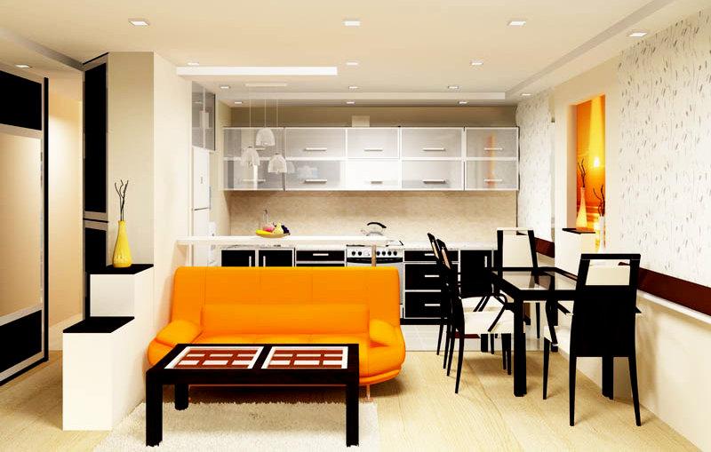 Дизайн кухни-студии фото 2