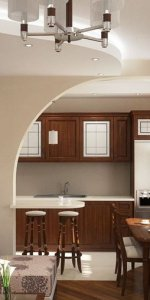 арка для зонирования кухни-студии